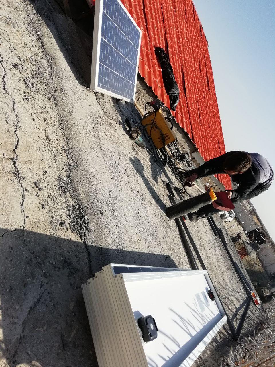 برق خورشیدی برای چاه کشاورزی
