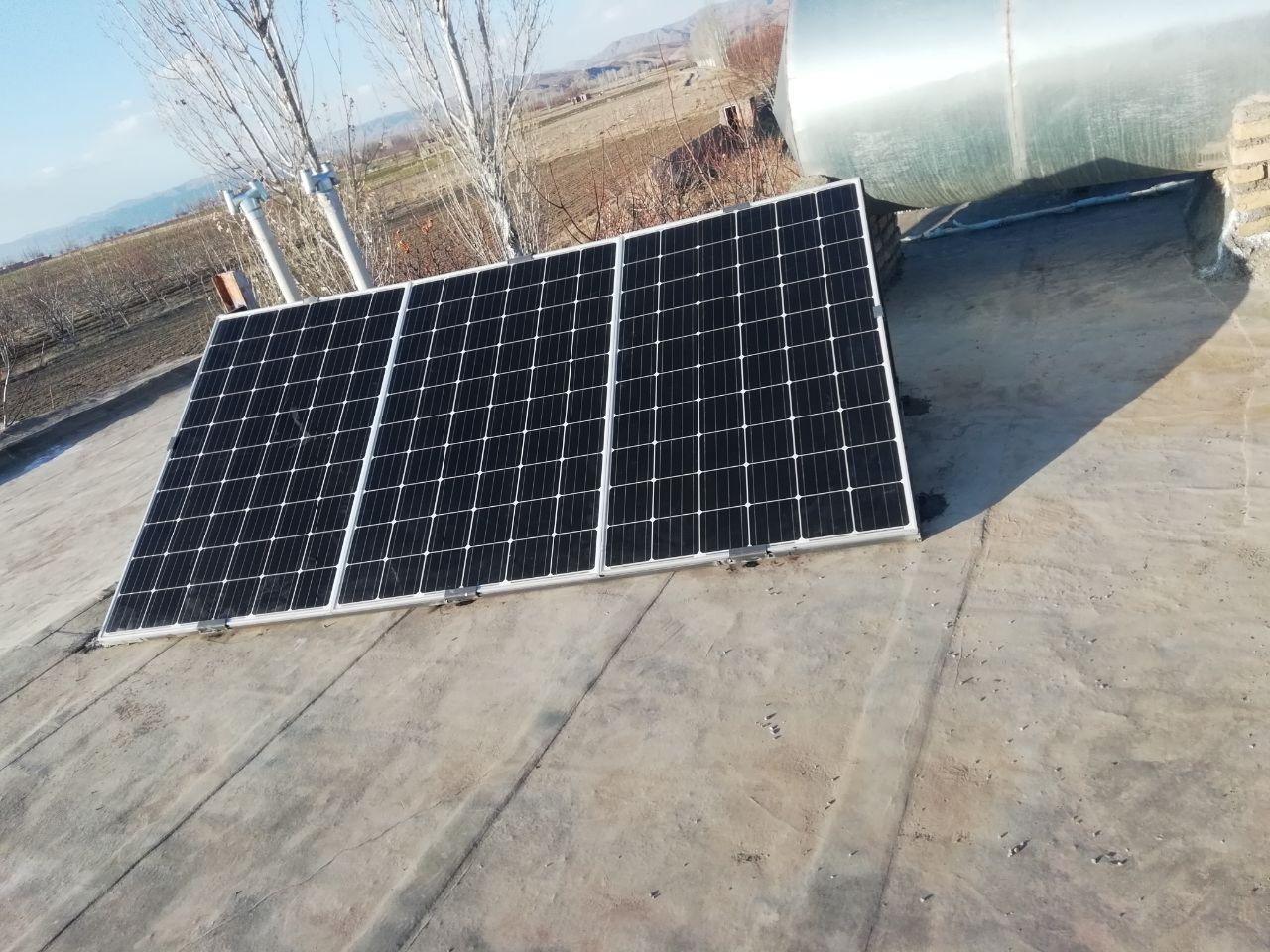 پکیج تلویزیون و لامپ 660 واتی برق خورشیدی . 09913566338
