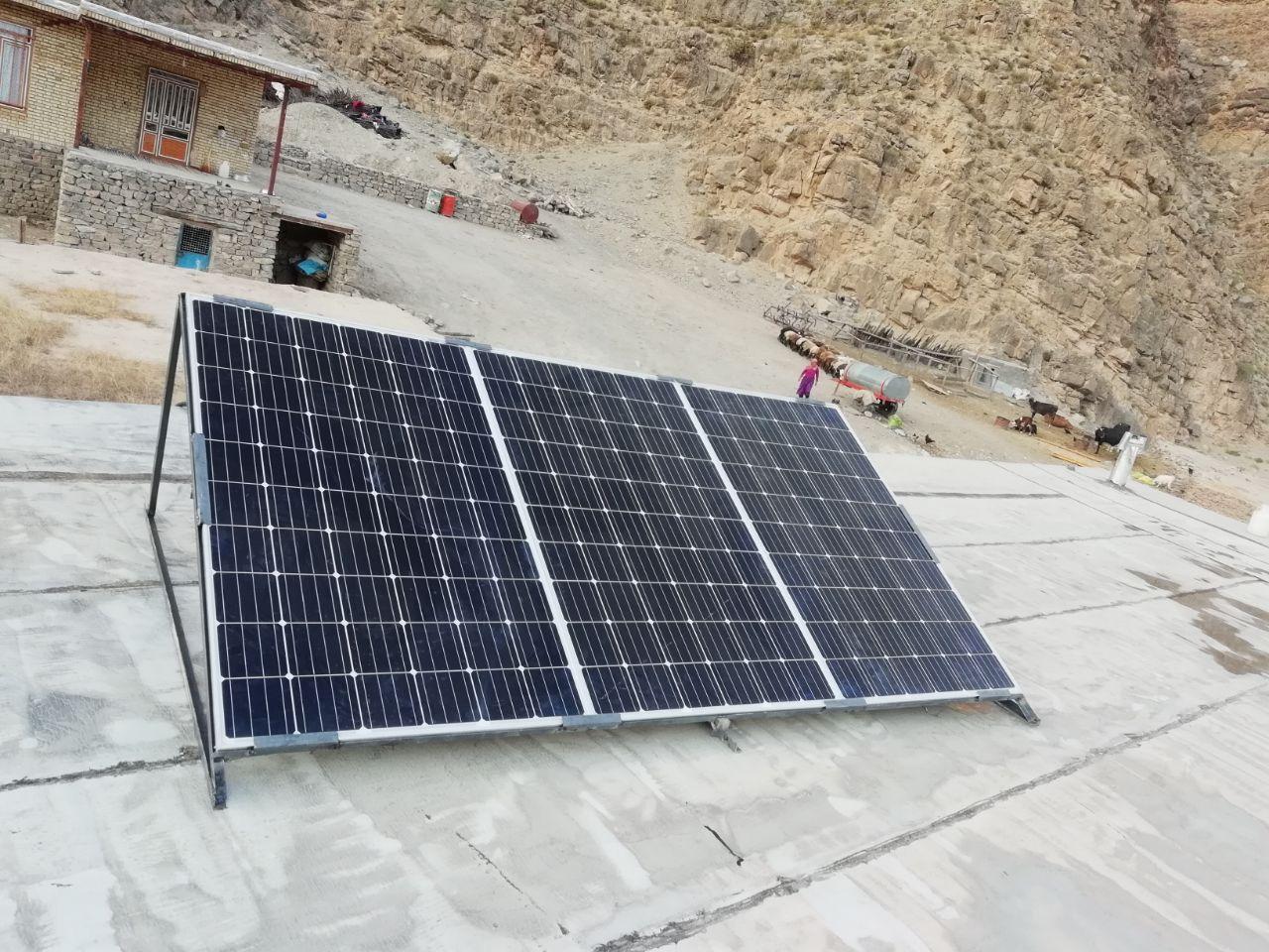 سیستم برق خورشیدی برایی باغ و ویلا در منطقه شیر حصار