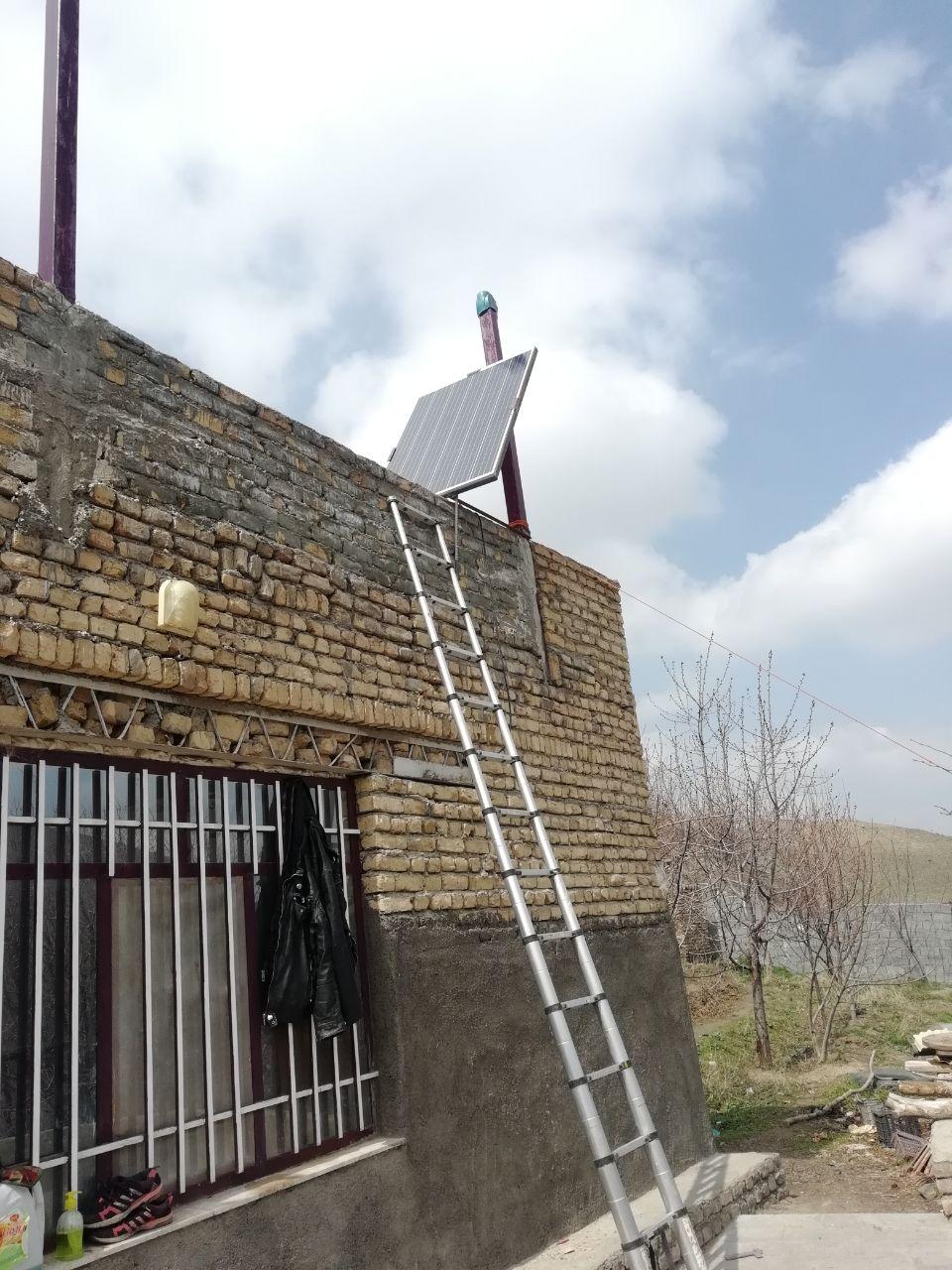 جاسازی سیستم برق خورشیدی زیر شیرونی