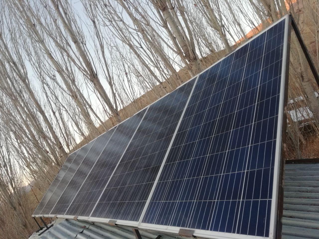 سیستم برق خورشیدی برای مصارف ضعیف مثل روشنایی
