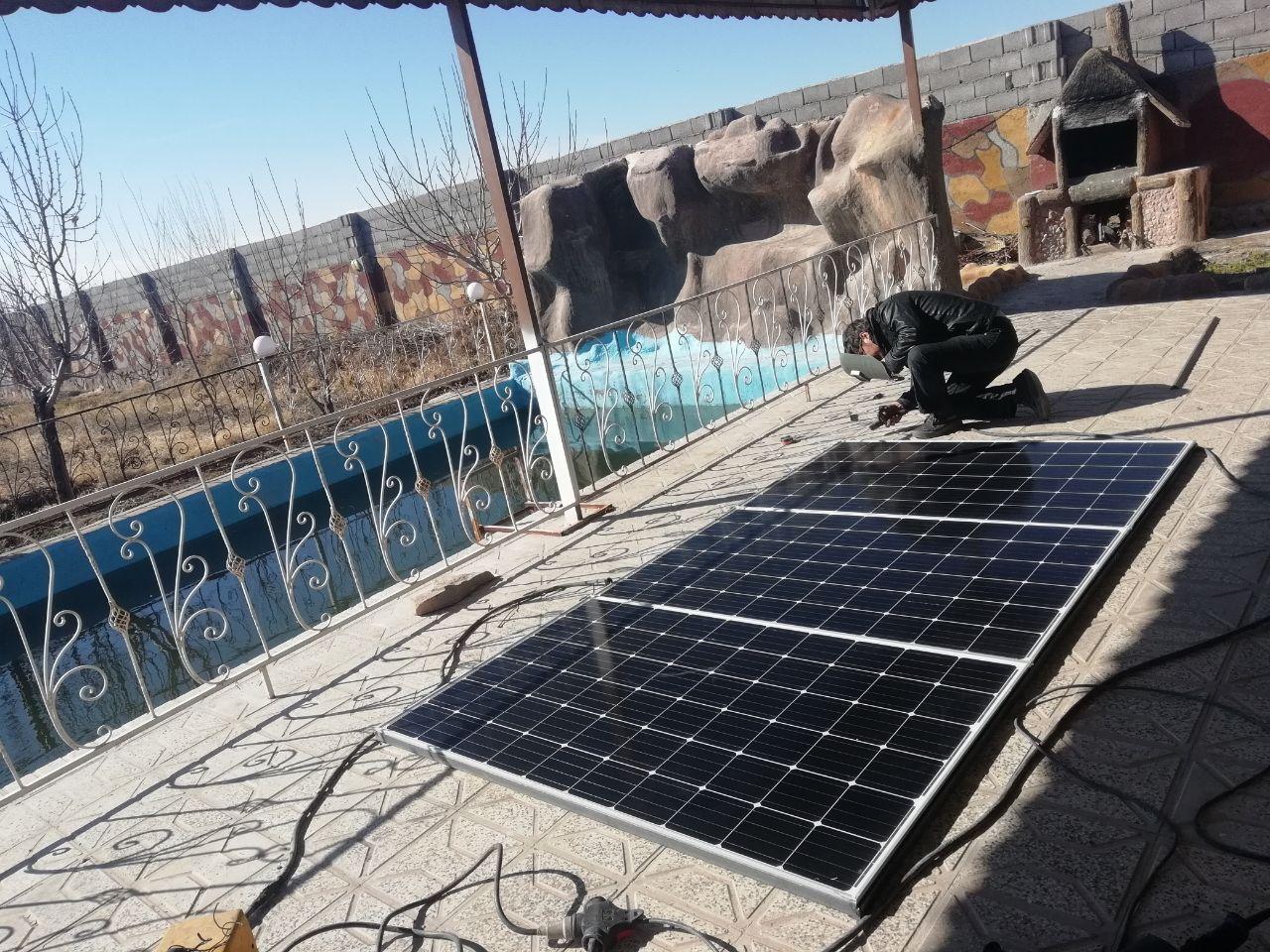 سیستم برق خورشیدی برای تامین مصارف باغ و ویلا