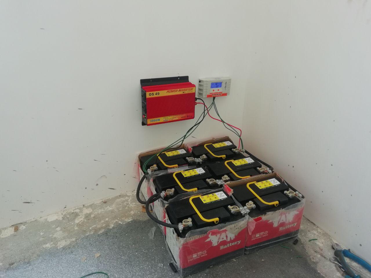 راه اندازی سیستم برق خورشیدی روشنایی یخچال