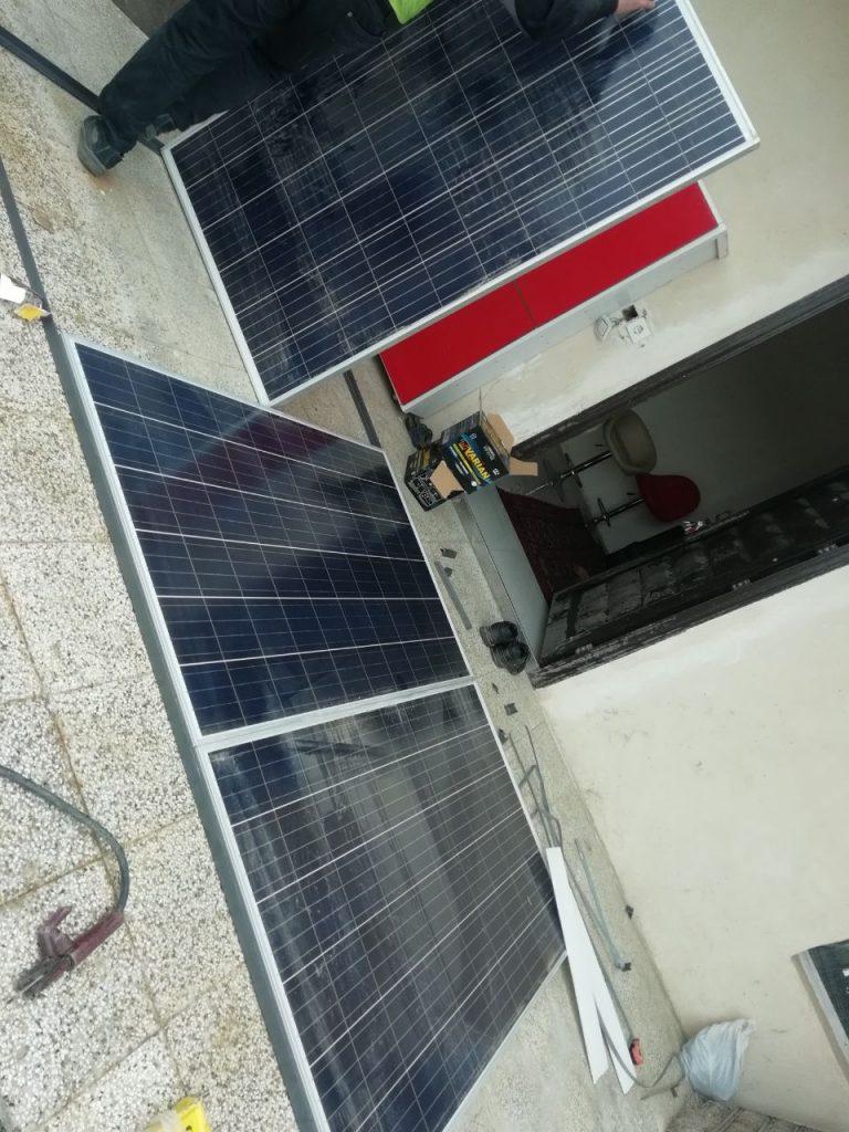 راه اندازی سیستم خورشیدی در منطقه ی امرودک