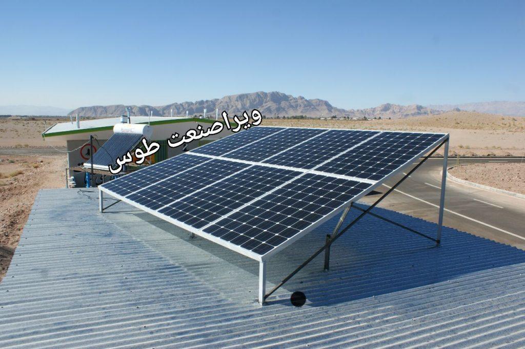 اجرای پروژه برق خورشیدی در گلمکان برای پمپ آب و روشنایی و یخچال